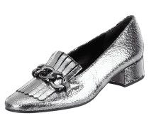 Loafer aus Leder in Metallicoptik