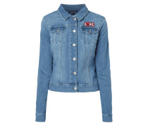 Jeansjacke mit Love-Patch
