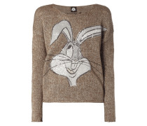 Oversized Pullover mit Bugs Bunny-Print