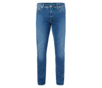 Stone Washed Tapered Fit 5-Pocket-Jeans