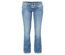 Double Stone Washed Bootcut Jeans