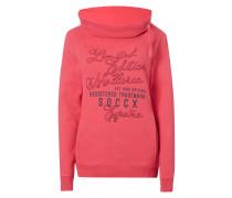 Sweatshirt mit Print und Stickereien
