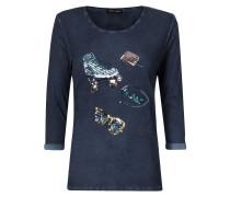 Shirt mit Pailletten-Besatz