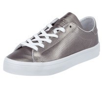 Sneaker 'Courtvantage' aus Leder in Metallicoptik