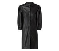 Kleid in Leder-Optik Modell 'Salira'