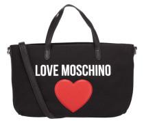 Handtasche aus Textil mit Logo-Print