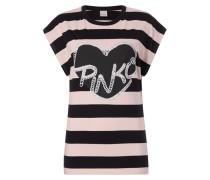 Shirt mit Logo-Print und Pailletten
