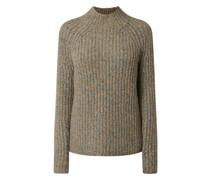 Pullover aus Mouliné mit Alpaka