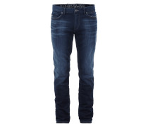 Stone Washed Slim Fit Jeans mit Used Details