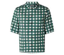 Comfort Fit Freizeithemd aus Viskose-Baumwoll-Mix