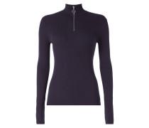 Pullover mit Reißverschluss am Stehkragen