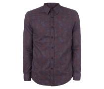 Slim Fit Hemd mit stilisiertem Punktemuster