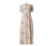 Off-Shoulder-Kleid mit floralem Muster Modell 'Loto'