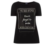 PLUS SIZE – T-Shirt mit Message-Print