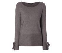 Pullover mit Schnürung an den Ärmelabschlüssen