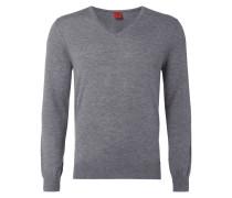 Body Fit Pullover aus Schurwoll-Seide-Mix