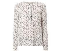 Blusenshirt aus reiner Seide mit Allover-Muster