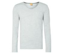 Sweatshirt mit Brusttasche - meliert