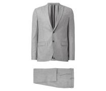 Anzug mit 2-Knopf-Sakko und Weste