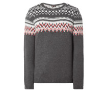 REVIEW Pullover mit Norweger-Muster