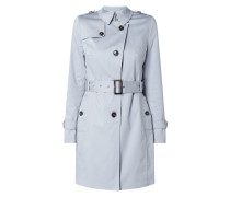 Trenchcoat mit Stretch-Anteil