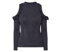 Cold Shoulder Pullover mit Rüschen