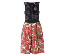 Kleid mit ausgestelltem Rockteil und Kellerfalten