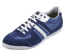 Sneaker mit Besatz aus Glatt- und Veloursleder