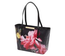 Shopper aus Leder mit floralem Muster