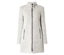 Mantel aus Tweed in gewalkter Optik
