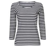 Shirt mit Dreiviertelarm und Streifenmuster