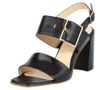 Sandalette aus Leder mit Blockabsatz