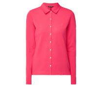 Bluse aus Baumwoll-Piqué mit Stretch-Anteil
