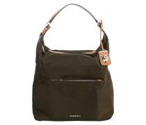 Hobo Bag mit Lederdetails