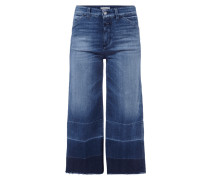 Stone Washed Jeansculotte mit Stretch-Anteil