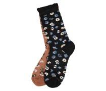 Socken aus Viskosemischung im 2er-Pack