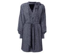 Kleid mit Zickzack-Muster und Schluppe