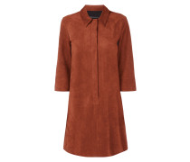 Kleid mit verdeckter Knopfleiste