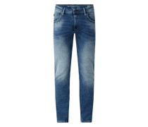 Regular Fit Jeans mit Stretch-Anteil Modell 'Russo'