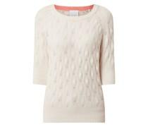 Pullover mit Lochmuster Modell 'Suzi'