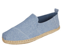 Espadrilles aus Canvas in Denimoptik