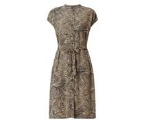 Kleid mit Allover-Muster Modell 'Gea'