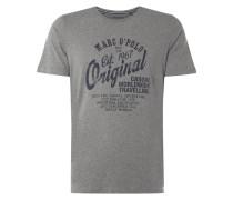 Pyjama-Shirt mit Logo-Print und Message