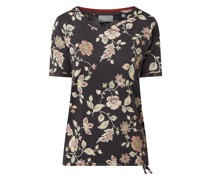 T-Shirt mit floralem Muster Modell 'Federica'