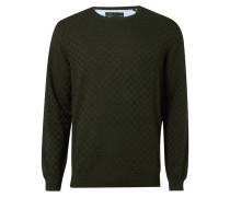 Pullover mit eingestricktem Karomuster