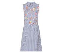 Blusenkleid mit Streifen- und Blumenmuster