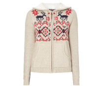 Strickjacke mit Norweger-Dessin