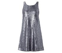 Kleid mit Pailletten-Besatz und Rückenausschnitt