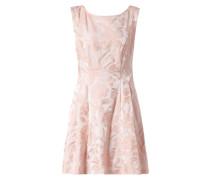 Kleid mit strukturiertem, floralem Muster
