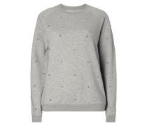 Sweatshirt mit Nietenbesatz